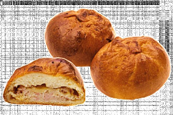 Пирожок с сыром и ветчиной