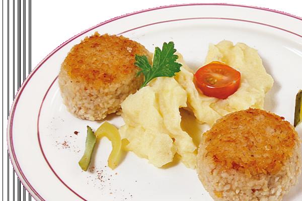 Биточки рыбные с картофельным пюре У Палыча
