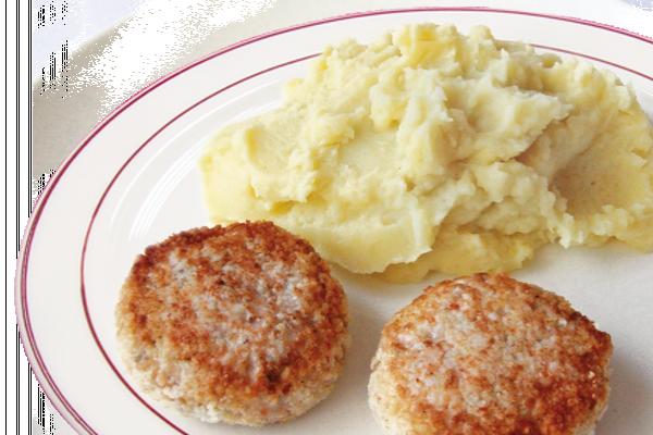 Медальоны из курицы с картофельным пюре У Палыча