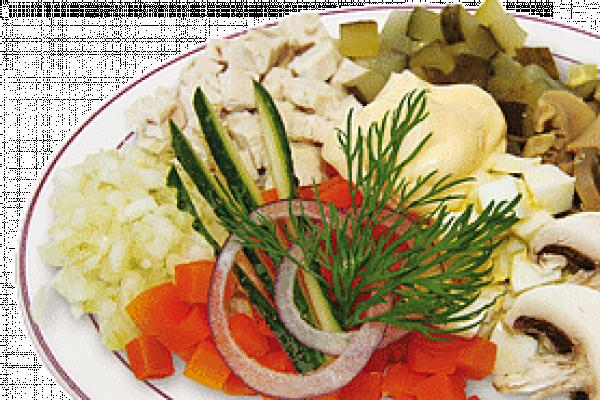 Салат Мясной с курицей и грибами У Палыча