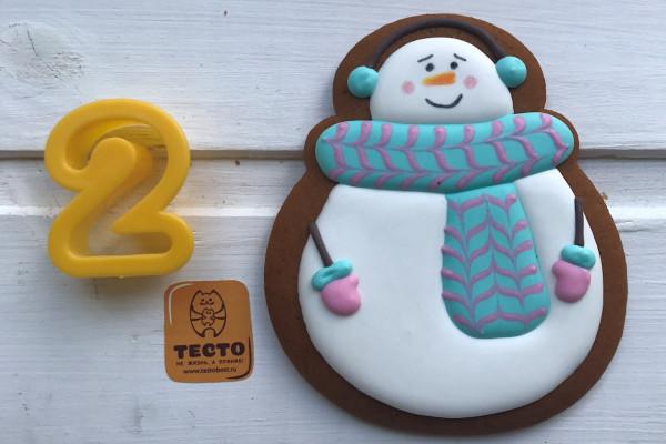 Пряник имбирный Снеговик №2 Тесто