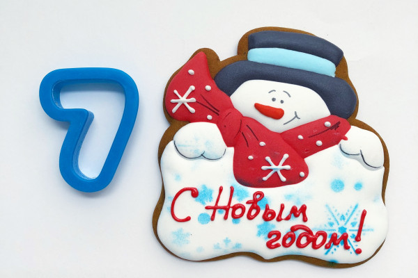 Пряник имбирный Снеговик №7 Тесто