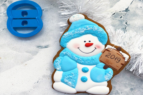 Пряник имбирный Снеговик №8 Тесто