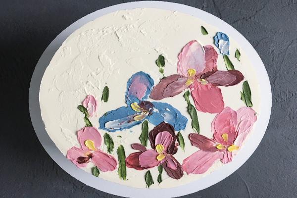 Торт Цветы маслом Dashadaya