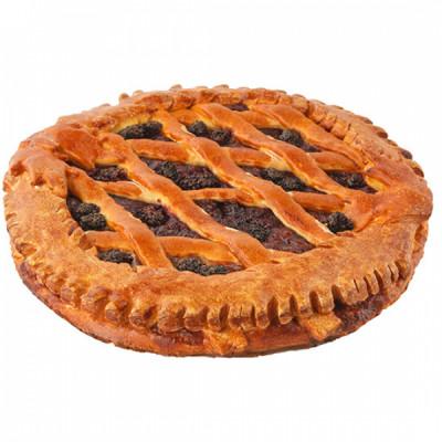 Пирог с ежевикой и малиной
