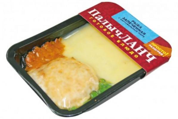 Рыба, запеченная с картофельным пюре