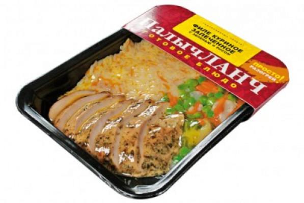 Филе куриное запеченное с зеленью и рисом