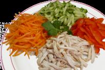 Салат с цыпленком и овощами У Палыча