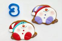 Пряник имбирный Снеговик №3 Тесто