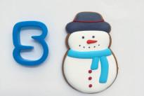 Пряник имбирный Снеговик №5 Тесто