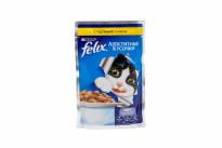 Корм Felix Аппетитные кусочки для кошек с курицей в желе