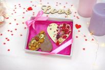 Шоколад белый и молочный Два сердца SWEETMARIN