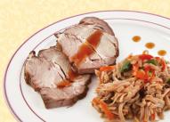 Свинина в соусе терияки с гречневой лапшой У Палыча